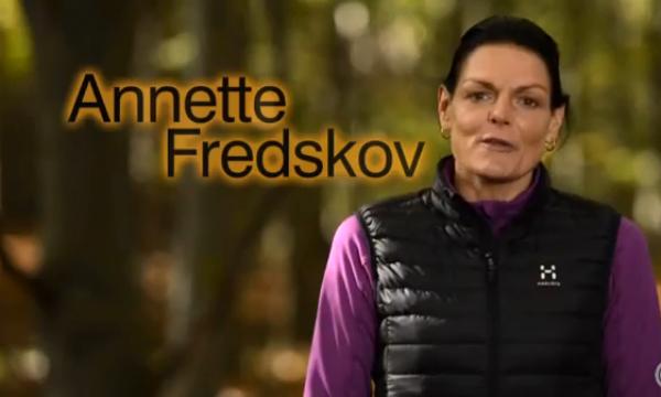 Hrabra i uporna Anette Fredskov