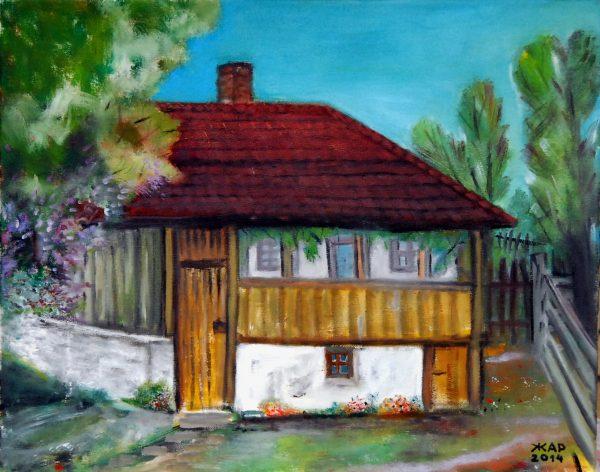 ž. a. r. Kuća Milorada i Živke Todorović u selu Kneževac
