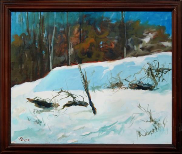 Цветојевачки зимски пејзаж, уље 80x60