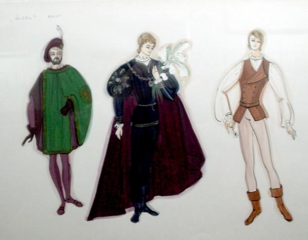 Цртежа  реализираних костима
