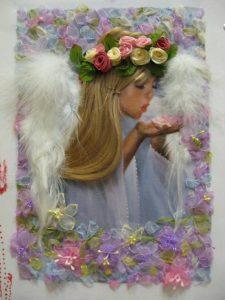 UZDAH TROPSKE TIŠINE, anđeo, devojčica, dete, cveće