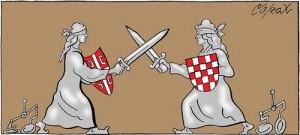 Karikatura Corax