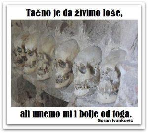 Aforizam Goran Ivanković ilustracija Deana Sailović