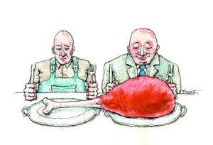 Karikatura: Predrag Koraksić Corax