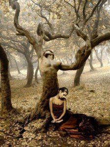 Pleši sa mnom, devojka, drvo, čovek drvo