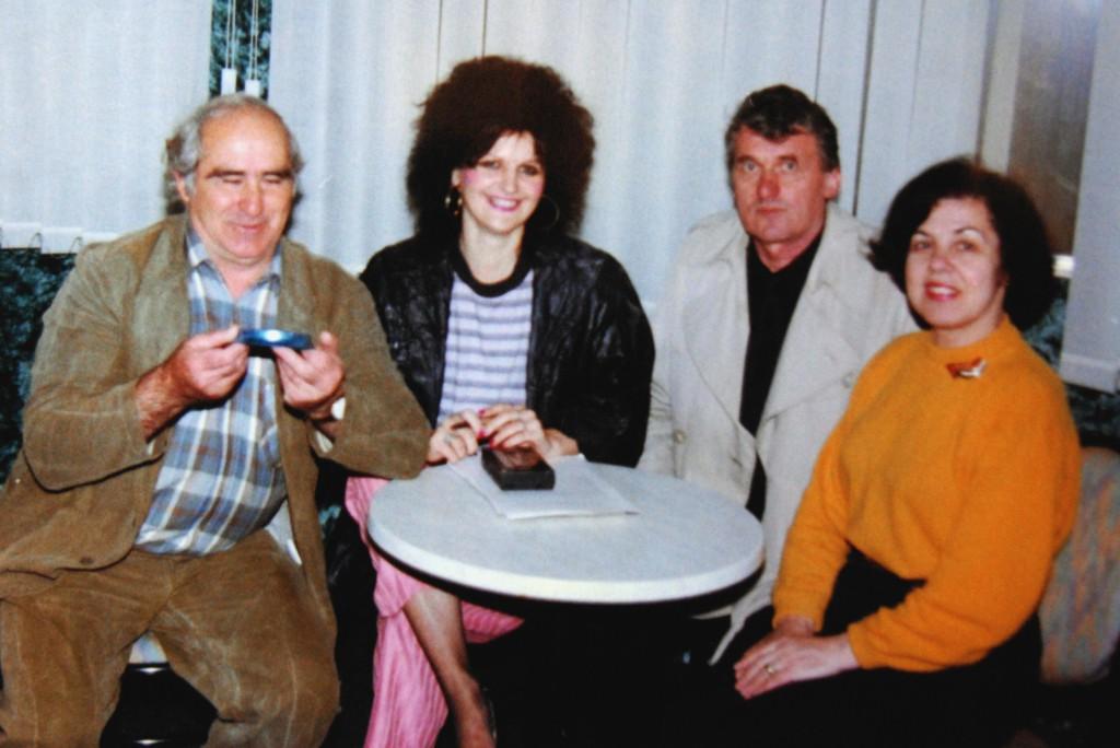 Слева на десно: Раде Миливојевиц, Славица Ћукичин, Тика и Уршула