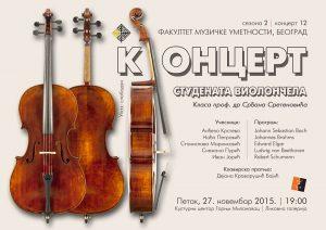 LED koncert violoncela