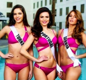 Mis Turske, Mis Portugala i Mis Srbije na Mis Univerzuma 2015.