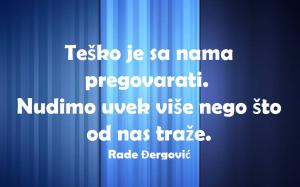 Skrenimo na pravi put Rade Đergović