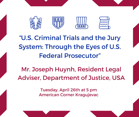 """""""U.S. Criminal Trials and the Jury System- Through the Eyes of U.S. Federal Prosecutor""""small"""