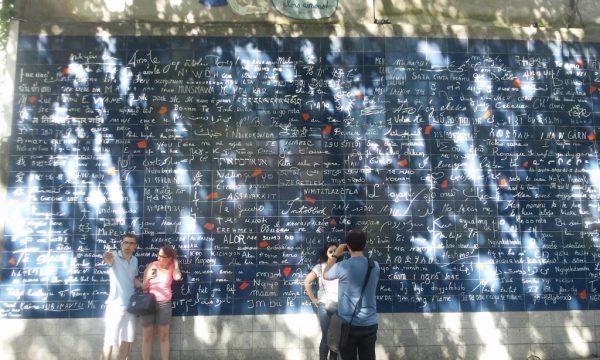 Le mur des je t'aime, Paris, foto Snežana Ilić